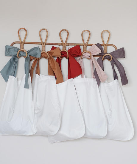 Ribbon eco bag small in 5 colors