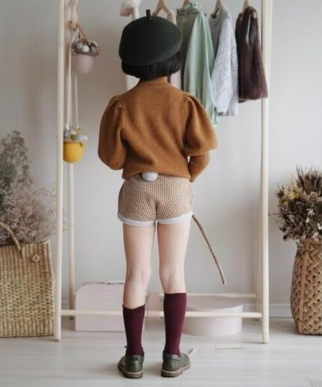 Shorts with pompom(pumpkin )