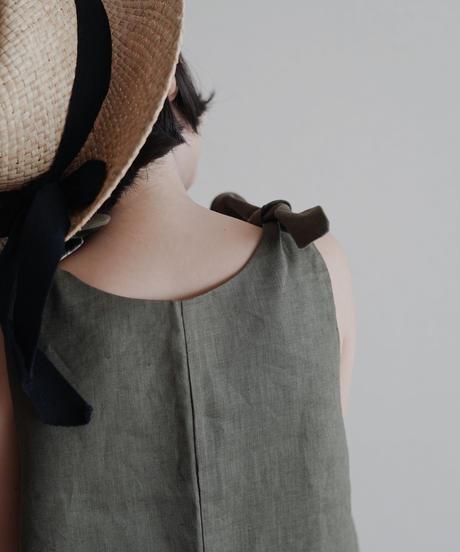 Linen jumpsuit (Olive Green)