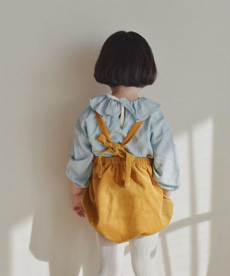 Corduroy rompers yellow