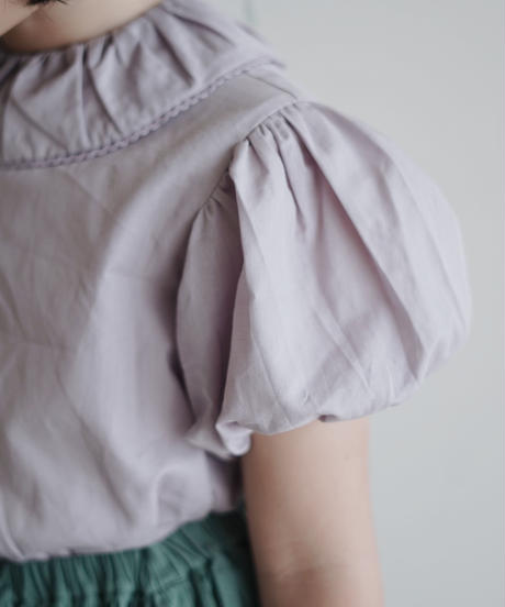 Frill collar shirt (lavender)