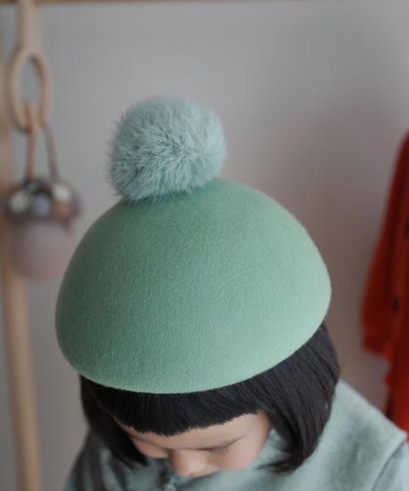 Pompom beret (mint)