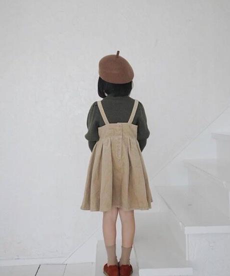 Suspender dress(Camel)
