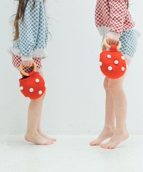 Handmade hand bag with pompom