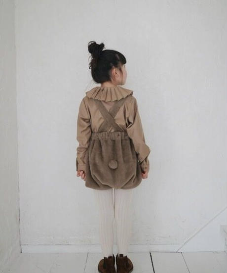 Pleated-detail shirt (Camel)