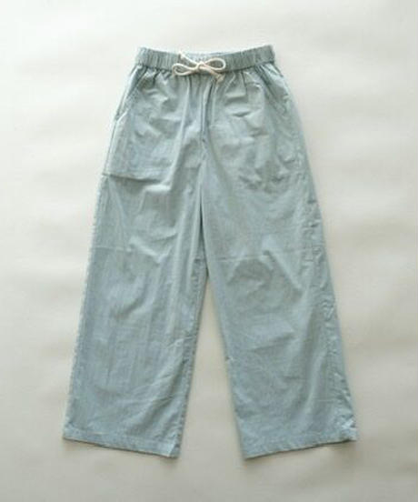 Straight-leg pants (blue)