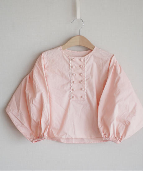 Double-breasted blouse pink