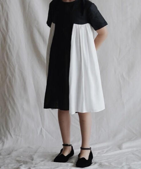 two-tone dress(black)