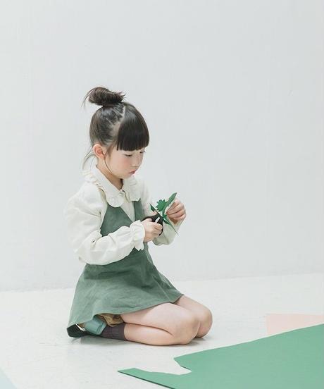 Linen apron green