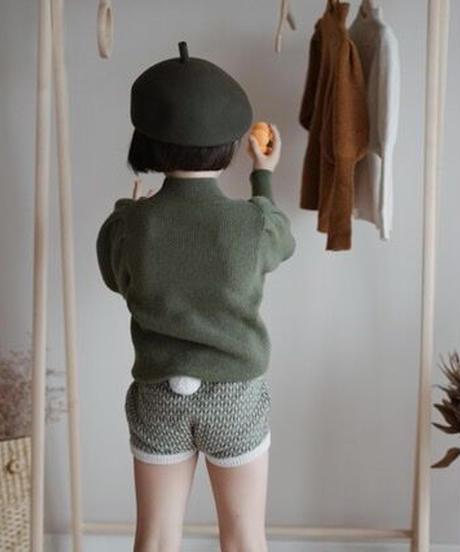 Puff sleeve sweater(Green)