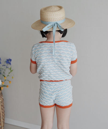 Knitted shorts (Blue)