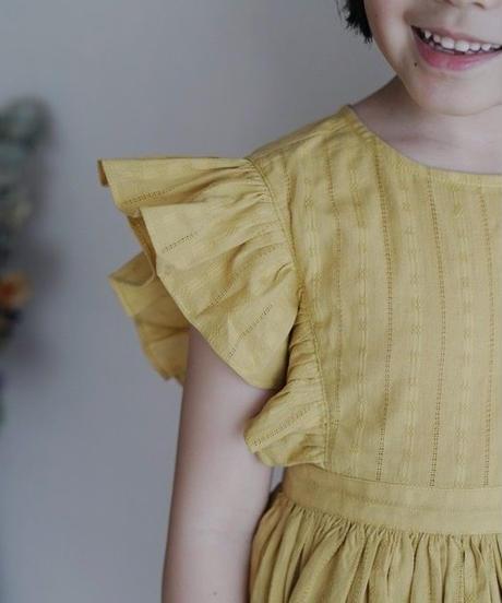 Flutter sleeve dress(Yellow)