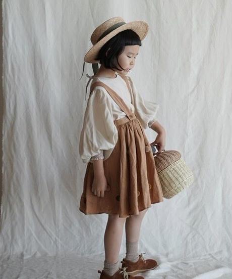 suspender skirt with pompom