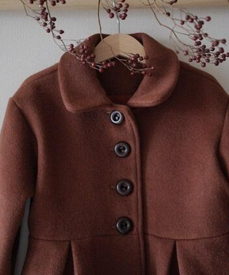 Single breasted coat(brick red)