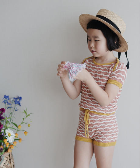 Knitted shorts (Pink)