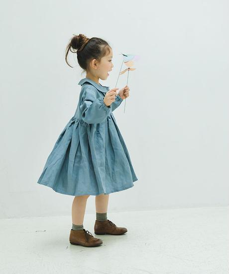Bow tie Peter Pan collar dress (blue)