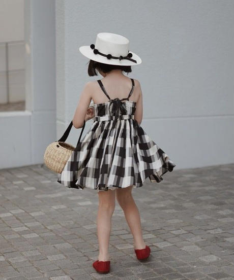 Black and white plaid dress