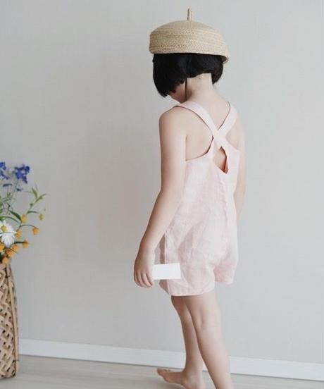 Crisscross back jumpsuit(Pink)