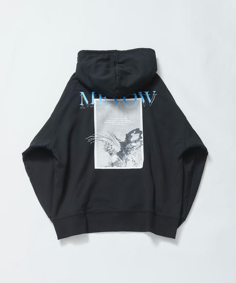 【9.26(sat)21:00-Pre-order】MEVOW BACK GRAPHIC BIG-HOODY(Black)