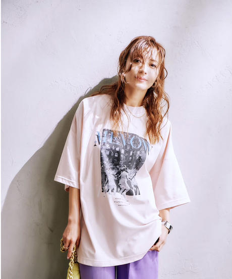【9.11(SAT)21:00-Re-stock】MEVOW  GRAPHIC T(Pink)