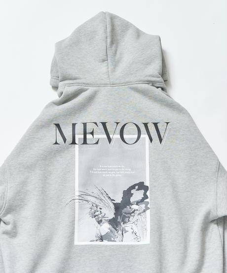 【9.26(sat)21:00-Pre-order】MEVOW BACK GRAPHIC BIG-HOODY(Gray)