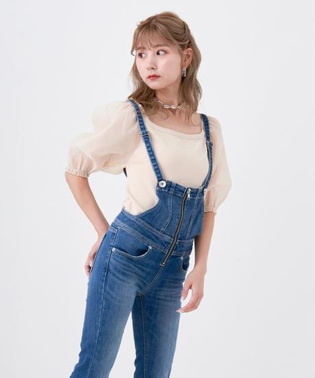 シフォンパフスリーブドッキングニット【4週間程度で発送予定】