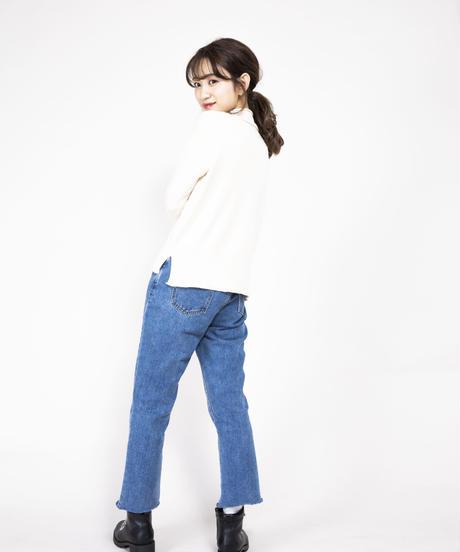 ハイネックニットトップス【3月上旬発送予定】