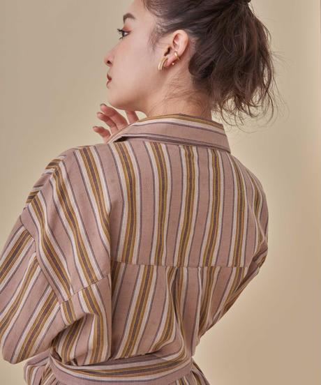 リネンライクルーズシャツ【7-10日程度で発送予定】
