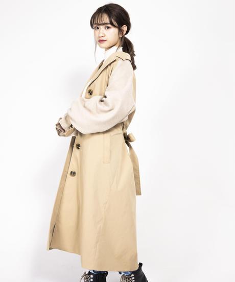 ニットドッキングトレンチコート【7-10日程度で発送予定】