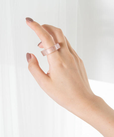 Self Ring 9号(Pale Pink)/ ON Glass Jewelry