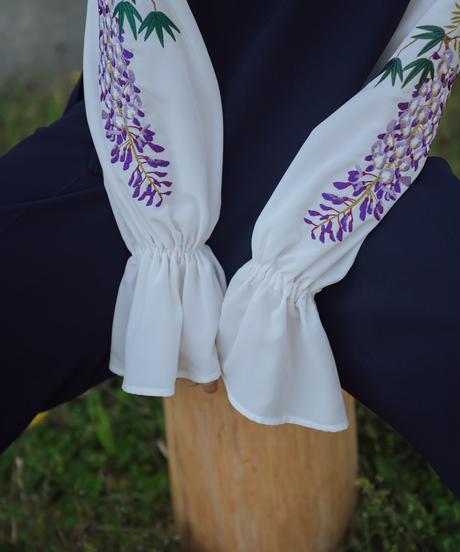 花を着るセットアップ / ブラウス【藤】