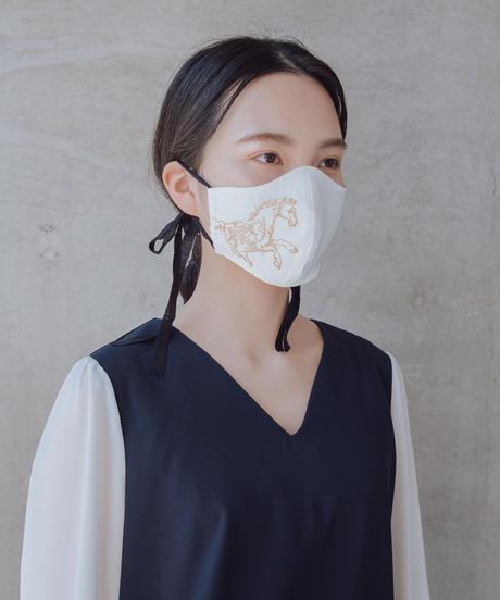 ペガサス刺繍マスク【アイボリー】