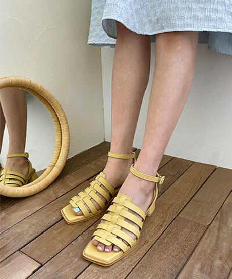 Mally_ivory/black/camel brown/mint/yellow(HEEL HEIGHT4cm)