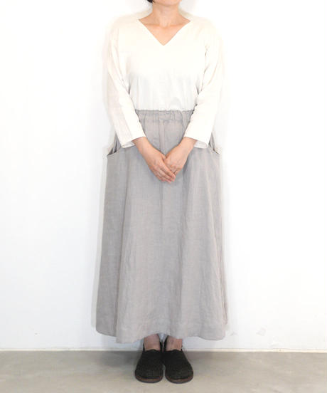 「ラウンドポケットスカート」の型紙(指南書付) +生地
