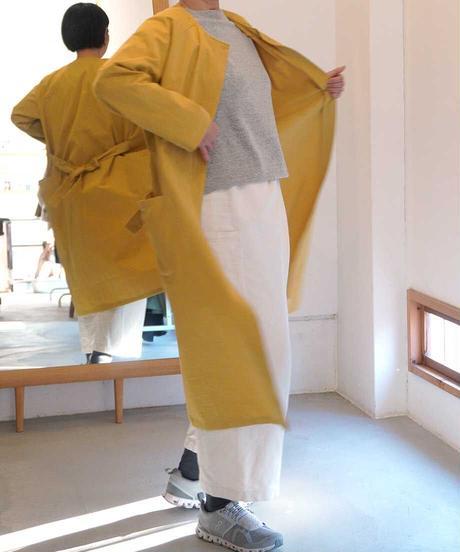「ミモザ色のスプリングコート」の型紙(指南書付) +生地 +裁断!