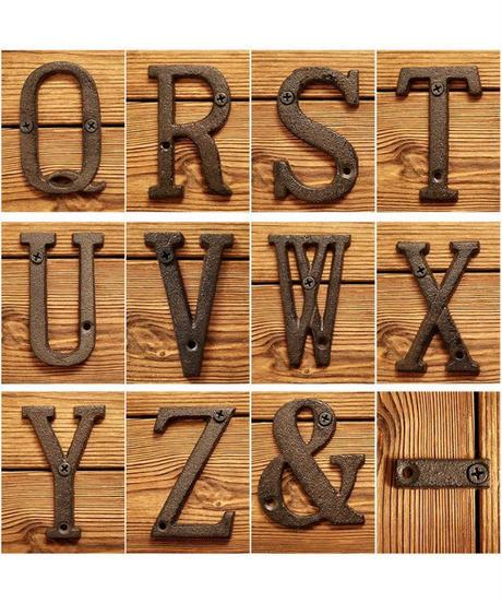 ロートアイアン製 サインアルファベットプレート 鋳物製