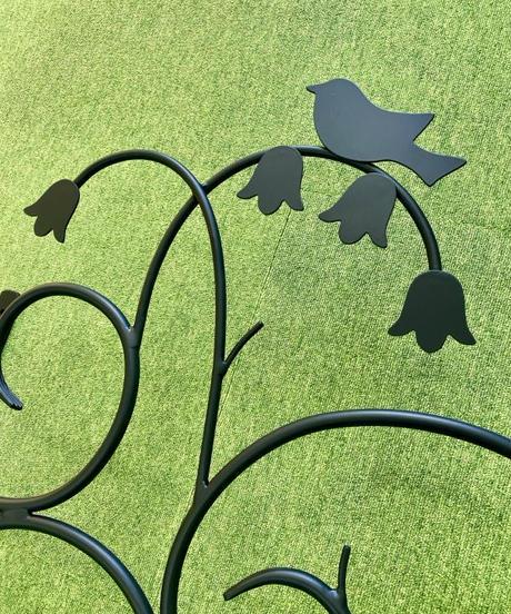 小鳥とすずらんの面格子(1)