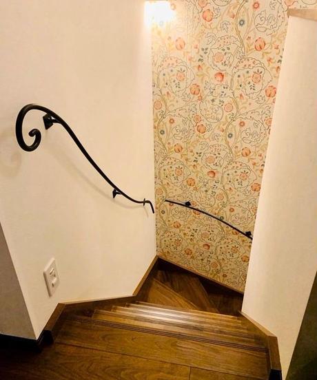 ロートアイアン製 階段壁手すり(3本セット)