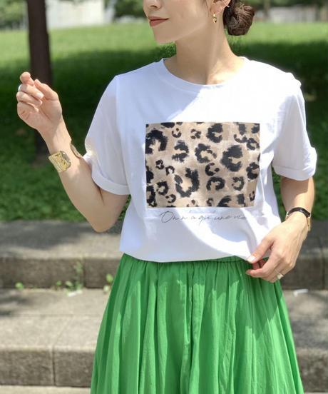 レオパードプリントTシャツ|T3084