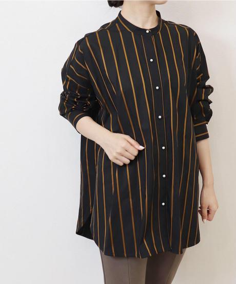 パールボタンストライプシャツ|T3124