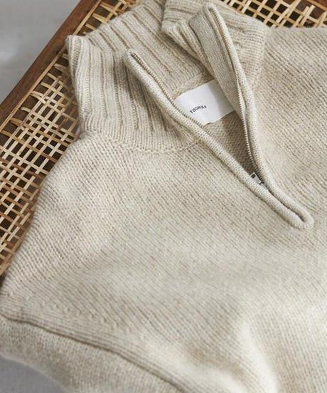 TODAYFUL|Wool Zip Knit|T3125