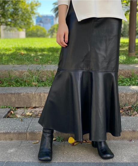 エコレザーマーメイドスカート S3017