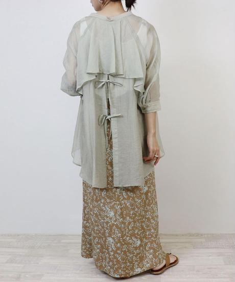 Eimee Law|バックフリル&オープンシャツ|81474Z|T3076
