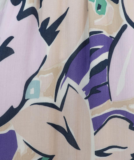 ペイント風プリント2段ティアードスカート|S3005
