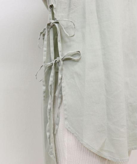 サイドリボンドレスシャツ|T3047