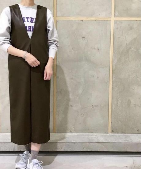 フロントスリット  ジャンパースカート|O3006