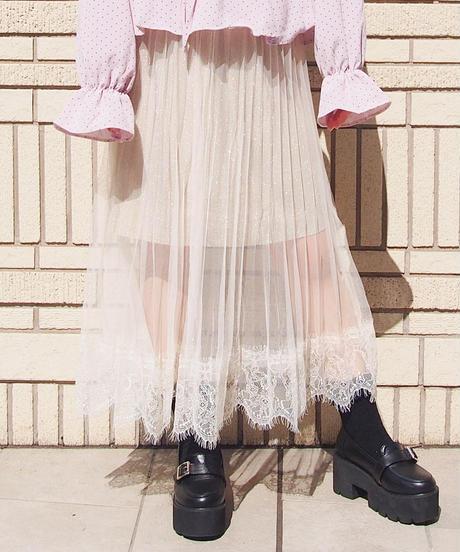 シースルーレーシースカート