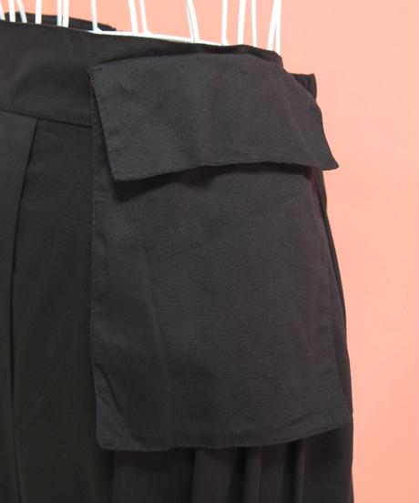 裾フリルリボンコットンスカート
