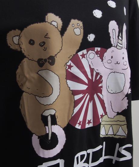 くま & うさぎプリントTシャツ