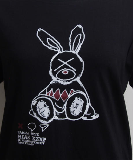 うさぎプリントTシャツ-B